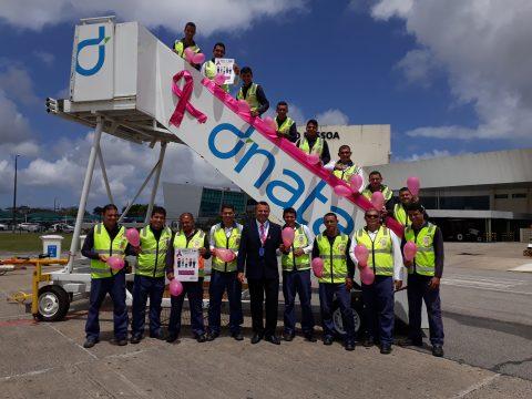 Funcionários da dnata no Brasil participam de ação global na luta contra o câncer