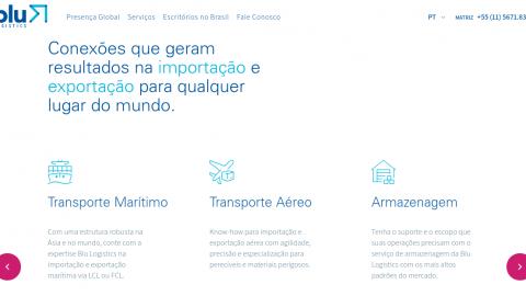 Blu Logistics cria novo site para facilitar a comunicação com os clientes e parceiros