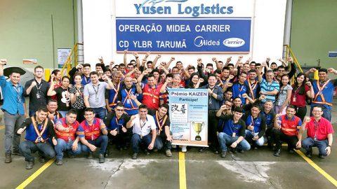 Equipes da Yusen Logistics ganham prêmios Time Kaizen Contínuo pelo trabalho realizado em suas bases