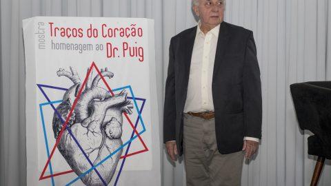 """Exposição """"Traços do Coração"""" com desenhos do cardiologista Luiz Boro Puig no Espaço Platina pode ser vista até dia 3 de novembro"""