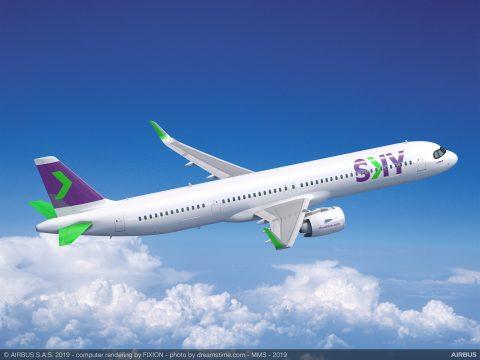 SKY anuncia a chegada de 10 aeronaves A321XLR até 2023